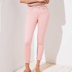 Ann Taylor LOFT Curvy StraightPink Jean Pants  6